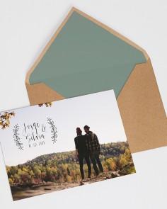 """Invito a nozze """"Postal Nature"""""""