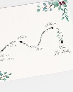"Mappa ""Eucalipto e rose"""